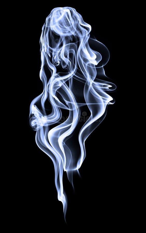 Rauch getrennt auf Schwarzem stockbild