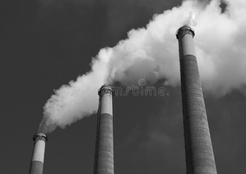 Rauch-Stapel lizenzfreie stockfotografie