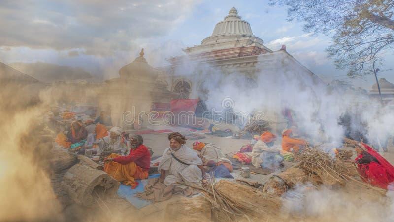 Rauch vom shiva stockfoto