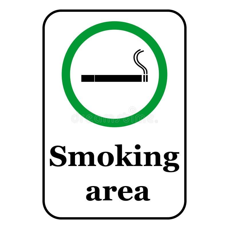 Rauchbereichsikonen-Vektorillustration stock abbildung