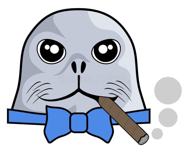Rauchdichtung stock abbildung