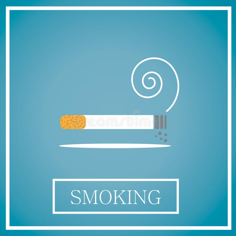 Rauchende Ikone stockfotografie