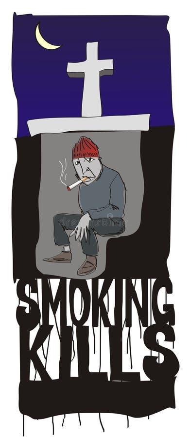 Rauchender Abbruch stock abbildung