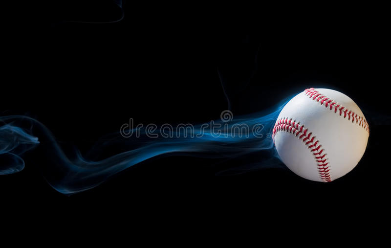 Rauchender Baseball stockfoto
