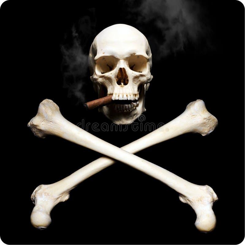 Rauchender Schädel stockfotos