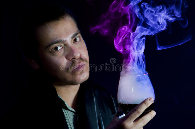 Rauchendes Glas stockfotografie
