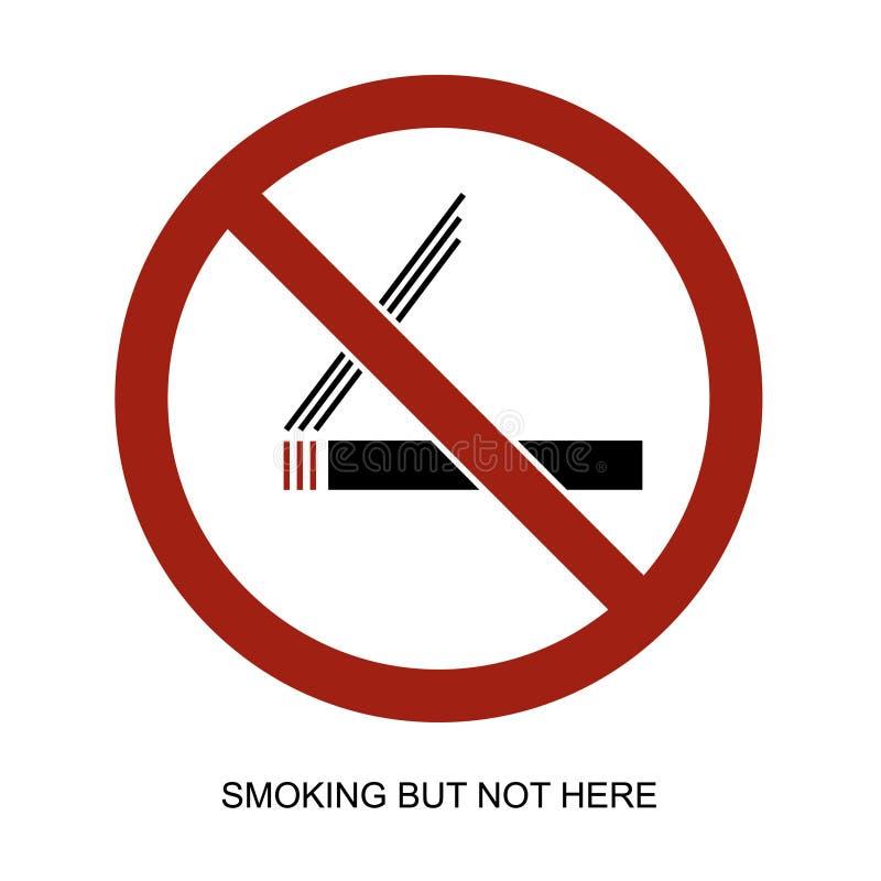 Rauchendes Ikonenvektorzeichen lizenzfreie abbildung