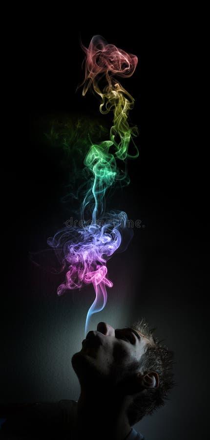 Rauchendes Marihuana stockbilder