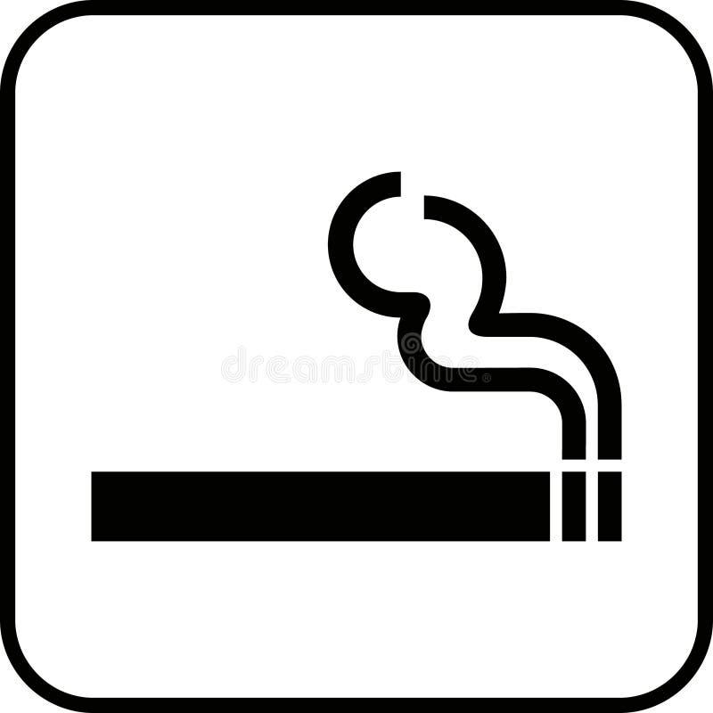Rauchendes Zeichen 1 (+ Vektor) lizenzfreie stockfotos