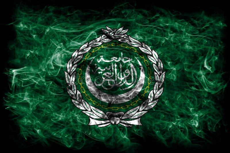 Rauchflagge der arabischen Liga, regionale Organisation von arabischen Staaten lizenzfreie stockfotos