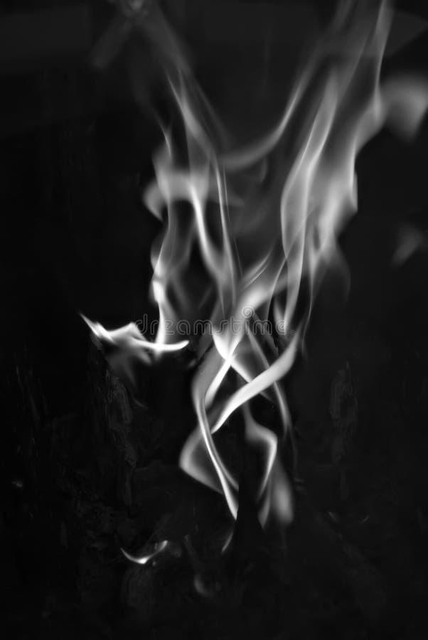 Rauchflammezunge auf schwarzem Hintergrund lizenzfreie stockbilder