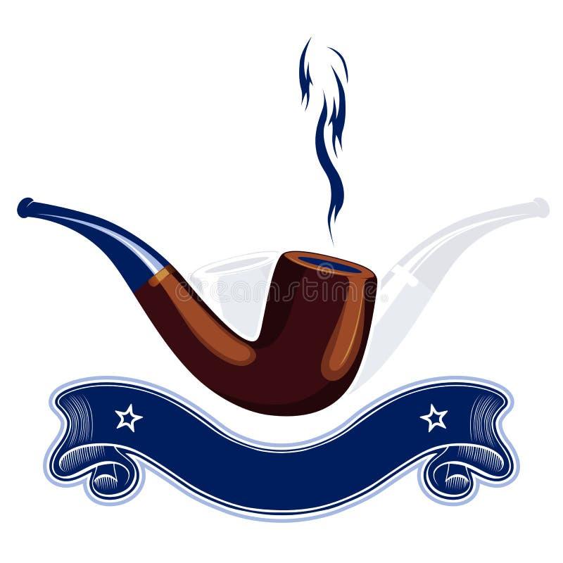 Rauchgefäßemblem lizenzfreie abbildung