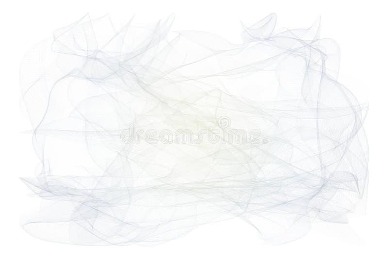Rauchige Linie Kunstillustrationshintergrundzusammenfassung, künstlerische Beschaffenheit Effekt, generativ, Kurve u. kreatives lizenzfreie abbildung
