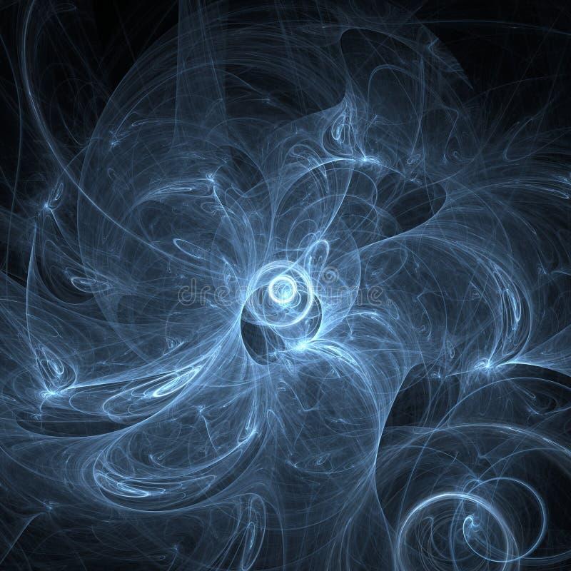 Rauchturbulenz, Fractal erzeugte Hintergrund stock abbildung