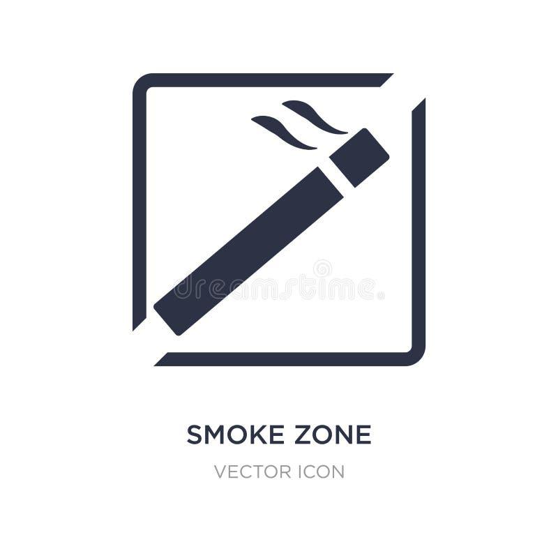 Rauchzonenikone auf weißem Hintergrund Einfache Elementillustration vom Karten- und Flaggenkonzept vektor abbildung