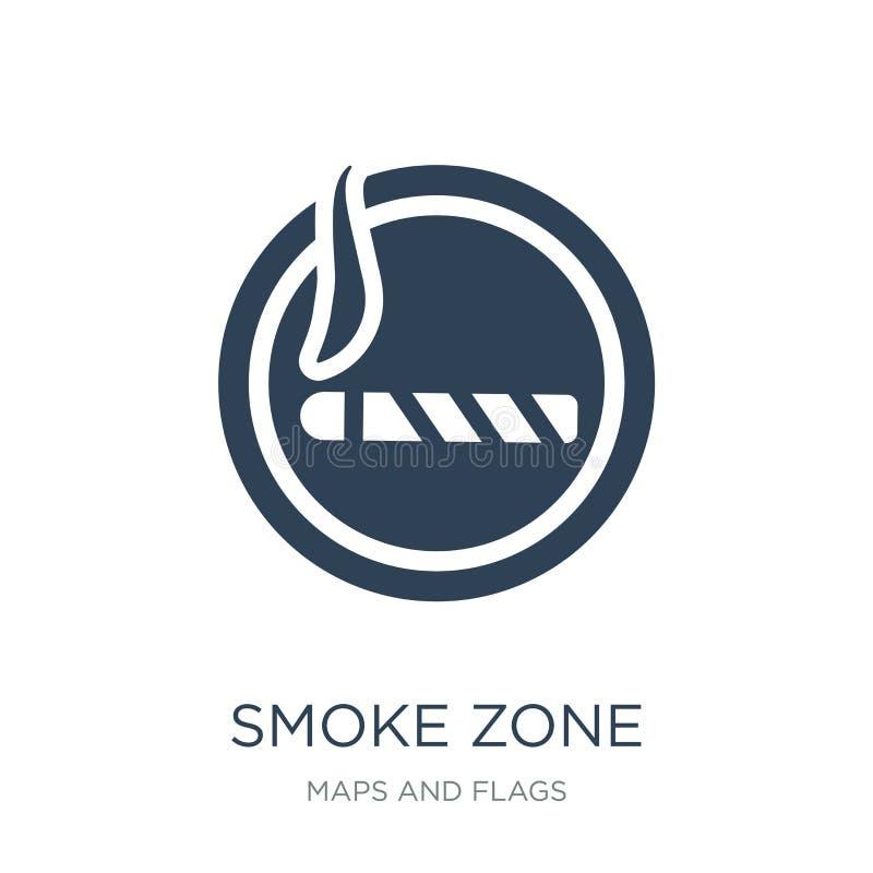 Rauchzonenikone in der modischen Entwurfsart Rauchzonenikone lokalisiert auf weißem Hintergrund Rauchzonen-Vektorikone einfach un lizenzfreie abbildung