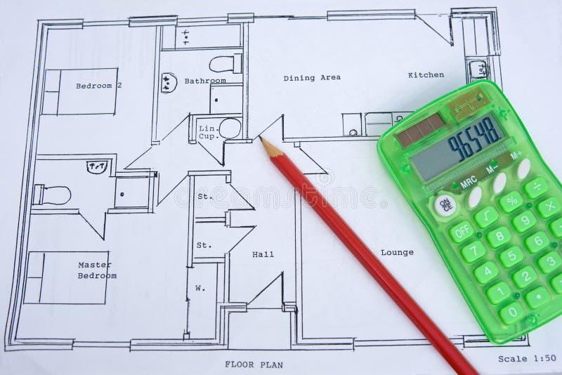 Rauer Plan eines kleinen Hauses: Gesundschrumpfung. stockbild