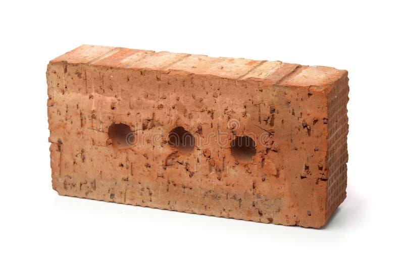 Rauer Ziegelstein des roten Lehms lizenzfreie stockbilder