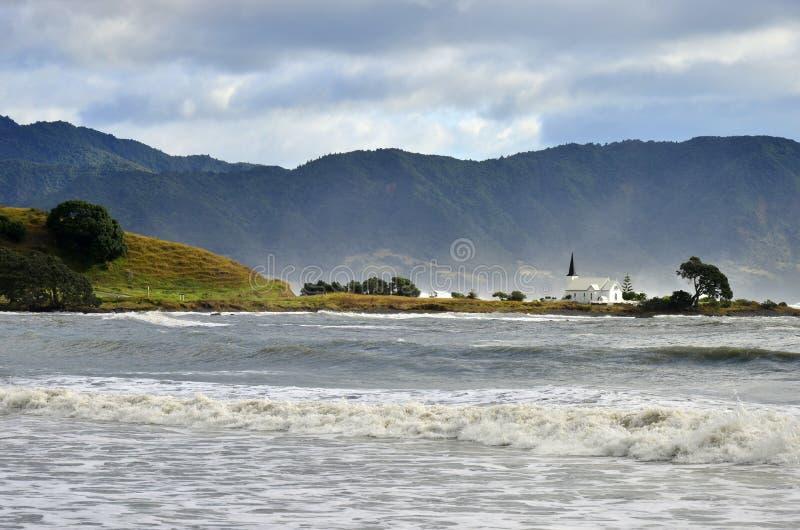 Raukokore kościół krajobraz burza dzień obraz royalty free