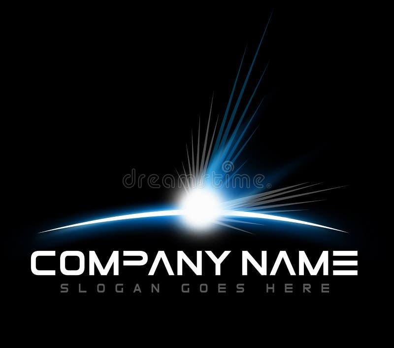 Raum-Dämmerungs-Logo stock abbildung