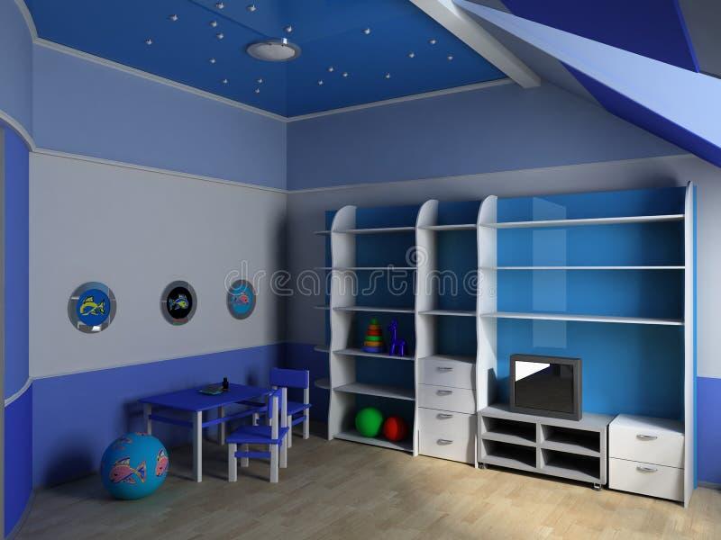Download Raum der Kinder stock abbildung. Illustration von familie - 12200533