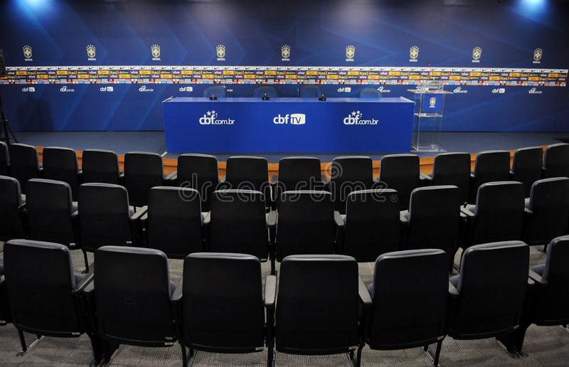 Raum der Pressekonferenz an CBF lizenzfreie stockbilder