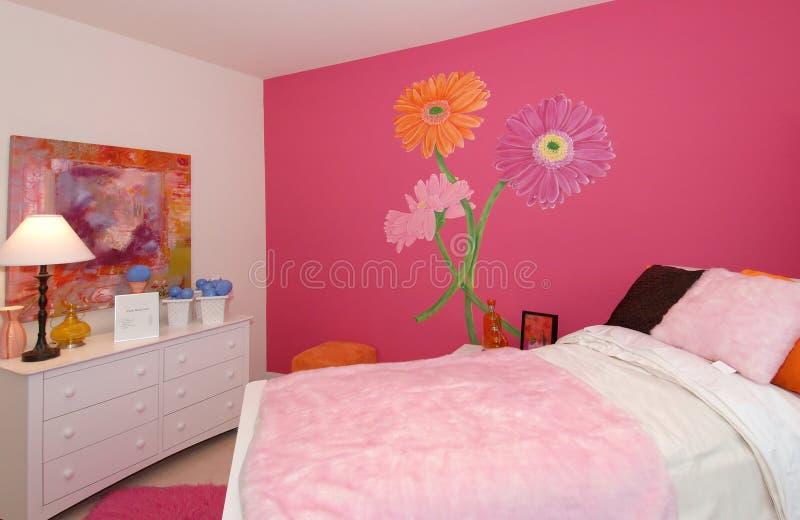 Raum des rosafarbenen Mädchens stockfotos