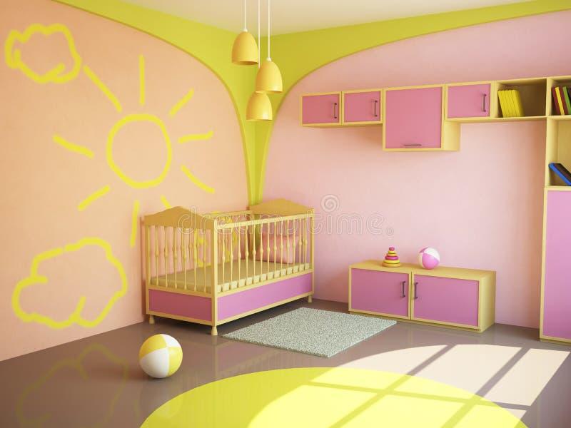 Raum für das Kind stock abbildung