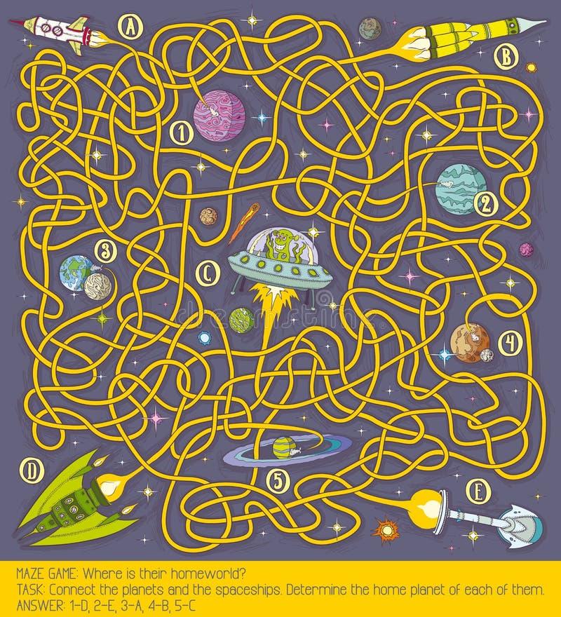 Raum-Labyrinthspiel stockfotos
