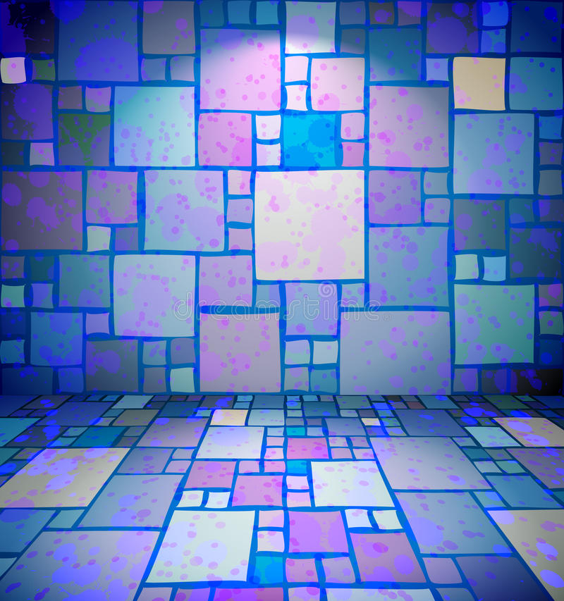 Raum mit befleckter Quadratverzierung vektor abbildung
