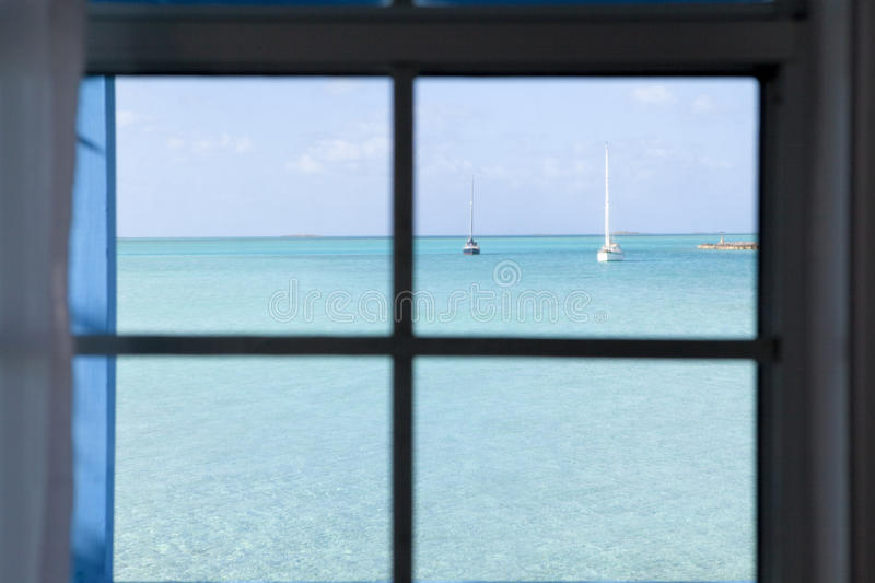 Raum mit einer Ansicht stockfoto