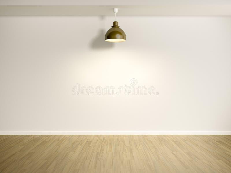 Raum mit Lampe stock abbildung