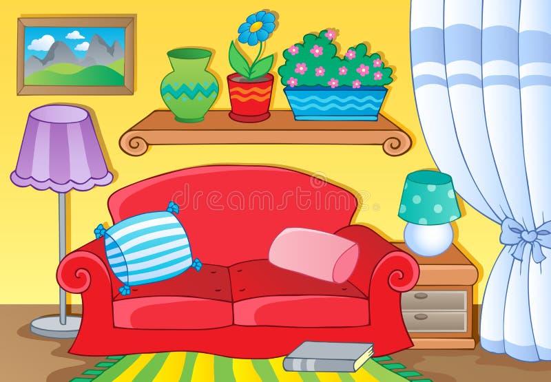 Raum mit Möbelthemabild 1 lizenzfreie abbildung