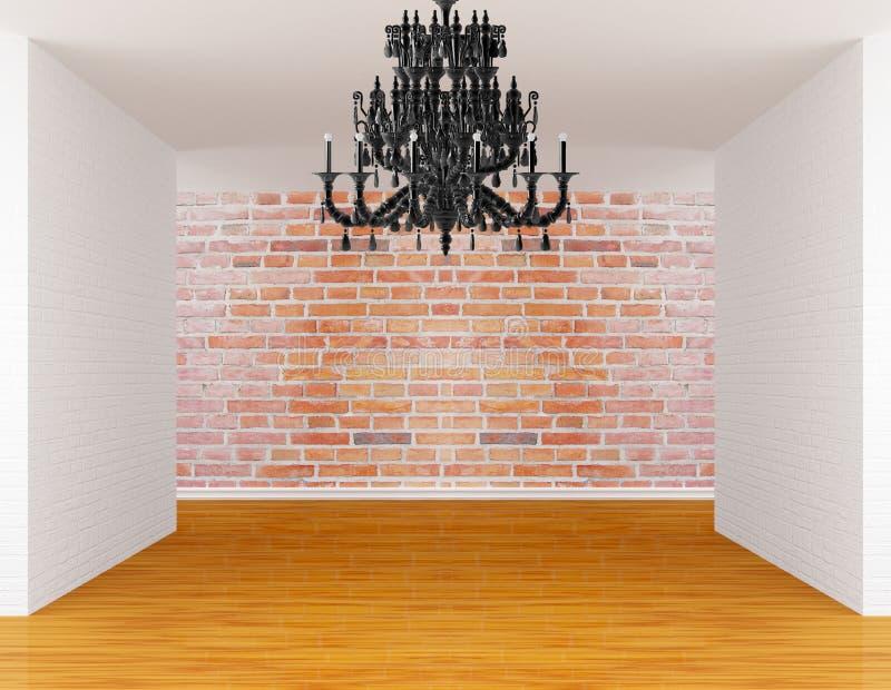 Raum mit schwarzem Leuchter stockfoto