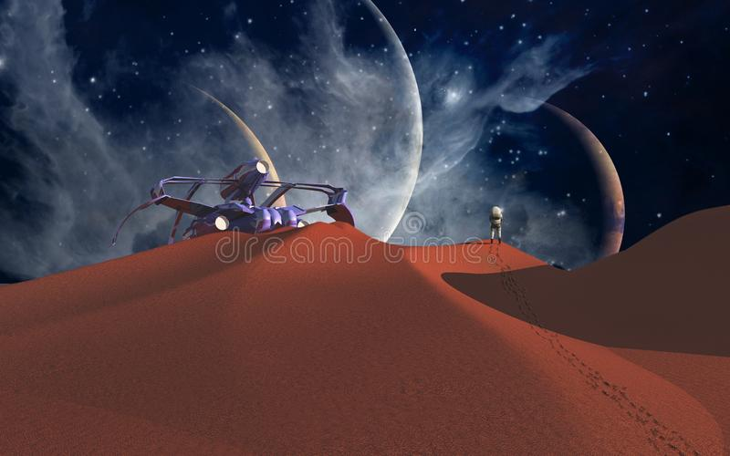 Raum-Reise lizenzfreie abbildung