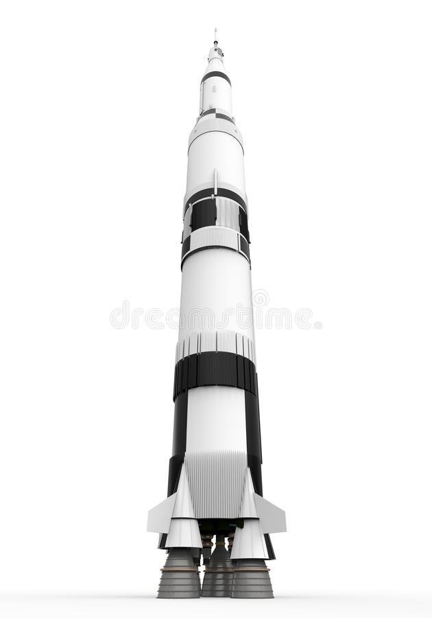 Raum Rocket Saturn stock abbildung