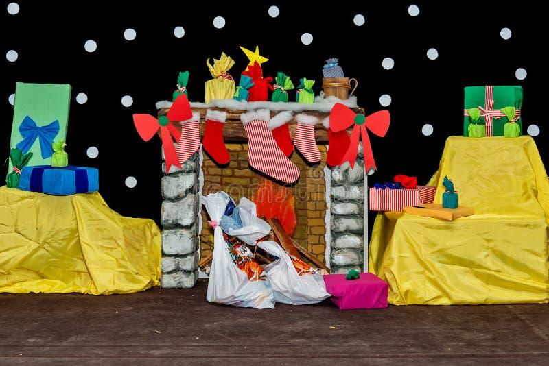 Raum verziert für Weihnachten lizenzfreie stockfotografie