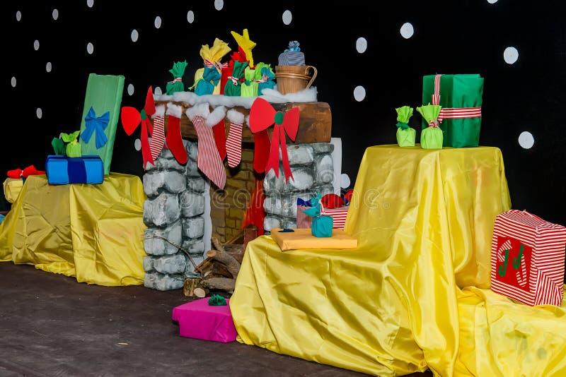 Raum verziert für Weihnachten lizenzfreies stockfoto