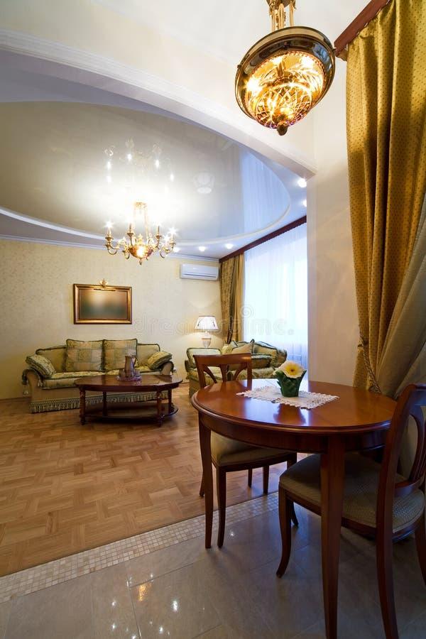 Raum zum reichen Hotel stockfoto