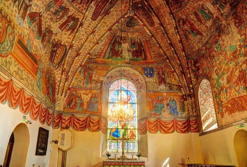 Rauma的中世纪教堂,芬兰 免版税库存图片
