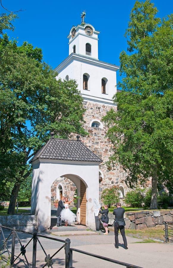 Rauma finland Igreja da cruz santamente imagem de stock