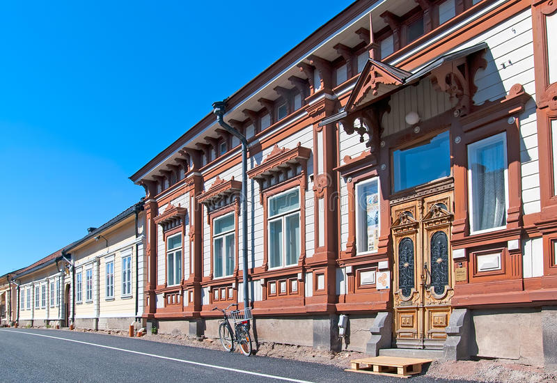 Rauma. Finland. Marela Museum. RAUMA, FINLAND - JULY 6, 2013: Marela. It is one of the most decorative buildings in Old Rauma. During the time Marela was owned royalty free stock photo
