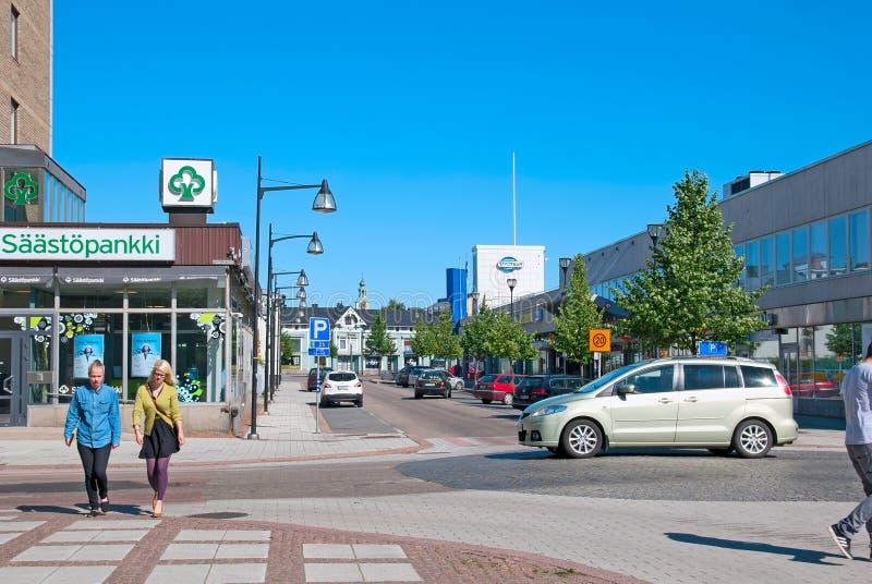 Rauma finland Parte moderna da cidade imagem de stock