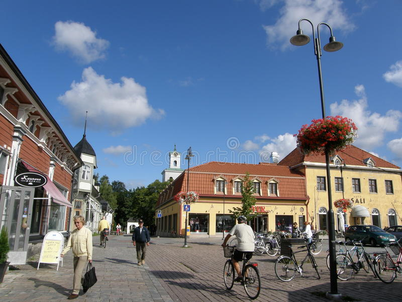 Rauma trästad, Finland royaltyfri fotografi