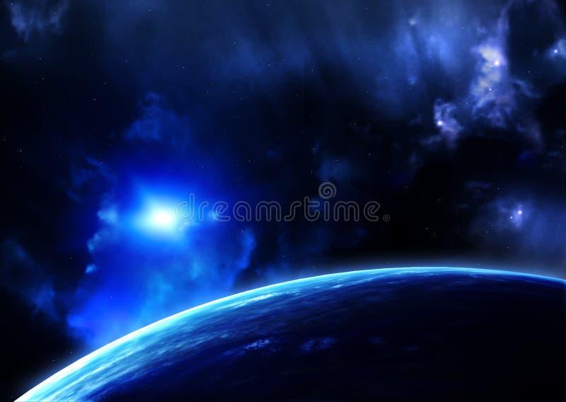 Raumaufflackern stock abbildung