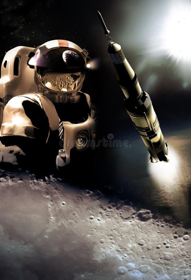 Raumeroberung lizenzfreie abbildung