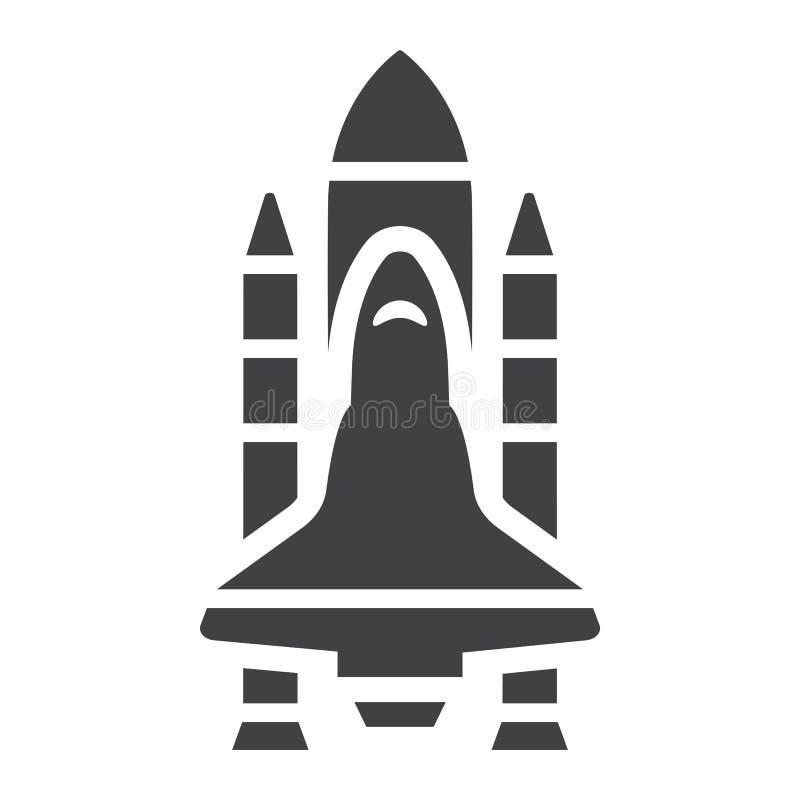 Raumfähre Glyphikone, -transport und -raum vektor abbildung