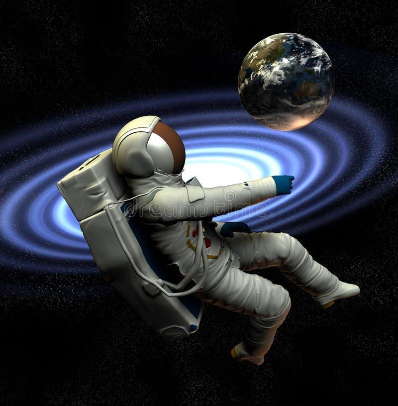 Raumfahrer 0 lizenzfreie abbildung