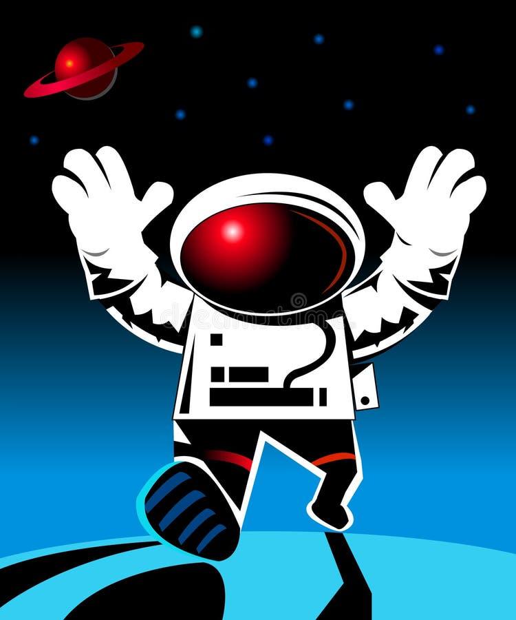 Raumfahrer stock abbildung