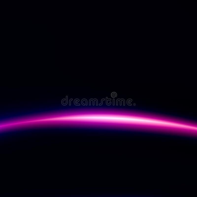 Raumfahrttechnik-Hintergrund Schönes schwarzes Licht Kreatives abstraktes Bild Digital-Illustration für Webdesign Ausländischer E stock abbildung